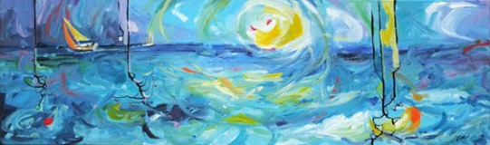 lever de soleil sur mer BD