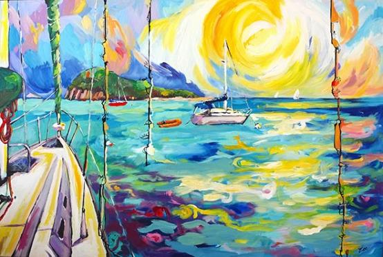 Bateaux à Tobago Cays