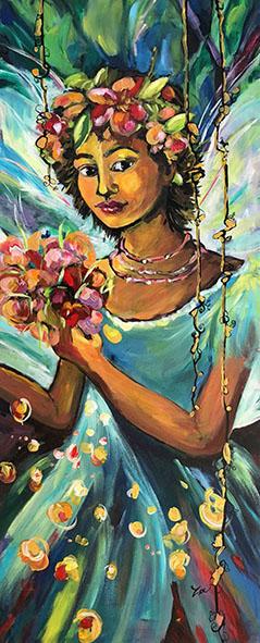 La fée au bouquet 100X40 BD